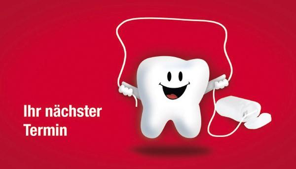 Denti mit Zahnseide