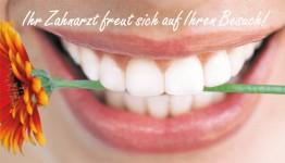 Mund mit Blume (Zahnarzt)