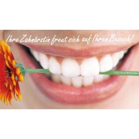 Mund mit Blume (Zahnärztin)